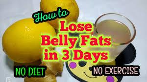 lose belly fat in 3 days super fast