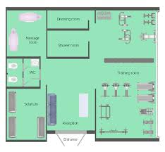 health club floor plan fitness center