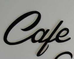 metal wall art decor cafe black for
