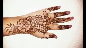 simple new girl mehndi design