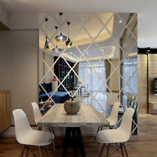 Wall Mirror Sticker Decor Art Diy 3d Mural Home Decal Room Removable Acrylic For Sale Online Ebay