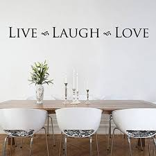 Live Laugh Love Wall Decal Lettering Wall Decal Kitchen Wall Etsy