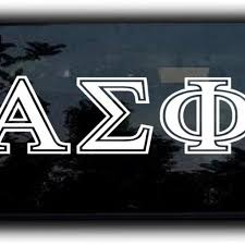 Alpha Sigma Phi College Fraternity Sorority Letters Decal Sticker 9 Inch Customstickershop On Artfire
