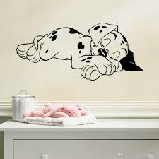 Sleeping Dog Wall Art Mural Decor Living Room Sleep Puppy Wallpaper Decoration Decal Home Art Poster Decal Vinyl Wall Graphic Vinyl Wall Graphics From Magicforwall 1 83 Dhgate Com