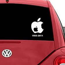 Roonir Apple Logo Steve Jobs Car Decal Car Sticker Apple For Car Back Mirror For Car Stickers White Amazon In Car Motorbike