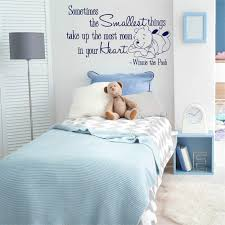 Amazon Com Aield Motivational Saying Lettering Art Winnie The Pooh Nursery Decal Quote Sticker The Smallest Things In Your Heart Bear Vinyl Wall Sticker For Kids Room Bedroom Star Baby Bear Bedroom Home