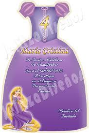 Invitacion Digital Tipo Vestido Rapunzel Enredados 5 000 En