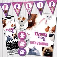 Kit Imprimible Candy Vida Secreta De Tus Mascotas Nena Mujer
