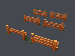 Low Poly Farm Fence 3d Model 15 Max Obj Fbx Free3d