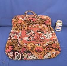 vtg antique civil war period carpet bag