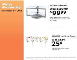 ikea canada wacky wednesday deals