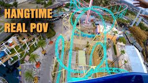 hangtime roller coaster real pov 4k