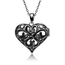 925 sterling silver filigree heart
