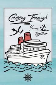 34th anniversary cruise journal lined