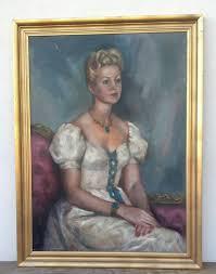 Stunning Original Mid Century Oil Portrait of Beautiful Lady by Fern Graham    Art painting, Oil portrait, Art