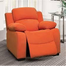 Allen Kids Recliner Chair In Orange Kids Furniture In Los Angeles