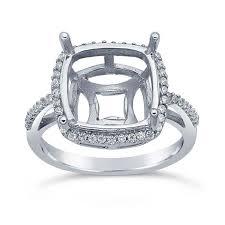 semi mount halo engagement ring mountings