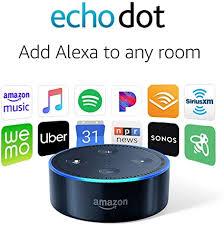 Amazon Com Echo Dot 2nd Generation Smart Speaker With Alexa Black Amazon Devices