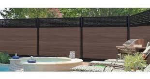 Veranda Euro Style 6 Ft H X 6 Ft W Lattice Top King Cedar Aluminum Composite Horizontal Fence Section Ef 03401 The Home Depot Horizontal Fence Fence Sections Easy Fence