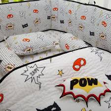 superhero organic cotton complete crib
