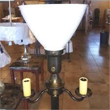 vintage art deco 6 way floor lamp 63 h