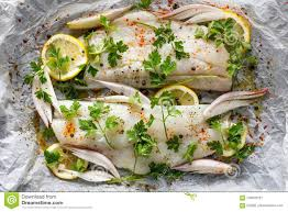 Fresh Fish, Cod Fillets With Parsley ...