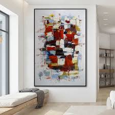 framed abstract wall art palette knife