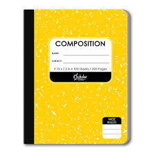 Yellow Composition Notebook 18100-YL – iScholar NY