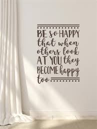 Be So Happy Vinyl Decal Wall Stickers Letters Words Home Decor