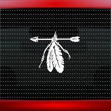 Feather 8 Native American Car Decal Window Sticker Wolf Paw Arrow 20 Colors Ebay