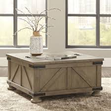 storage gray inside square coffee table