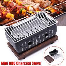 Mini BBQ Bếp Than Phong Cách Nhật Bản BBQ Than Nướng Ngoài Trời Cắm Trại  Nướng Di Động Văn Bản Bếp Lò cho 2 4 Người bên nhà|