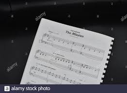 Sheet music for The Mission by Ennio Morricone Stock Photo - Alamy