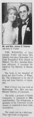 Amy Fowler weds James Siderits - Newspapers.com