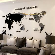 3d Wall Sticker Acrylic Wall Decorations Living Room Bedroom World Map Stickers Home Decor 5 Sizes One Piece Wallpaper Hot Sale Wall Stickers Aliexpress