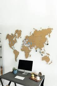 Cork Push Pin World Map Wall Art Map Cork Board Rustic Wall Etsy In 2020 World Map Wall Art World Map Wall Map Wall Art