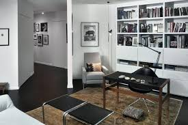 black and white home office decorating