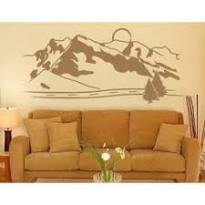 Shop Mountains Mural Vinyl Wall Decal And Sticker Overstock 11883276