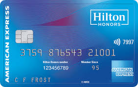 hilton honors card from american