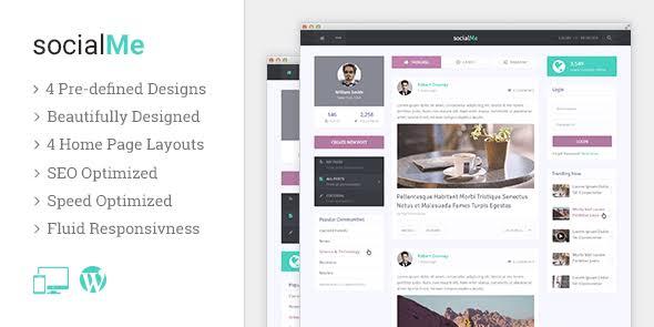MyThemeShop socialMe WordPress Theme