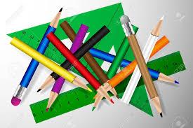 Crayons Crayon, De Couleur Et De Règle, Crayon Avec Gomme à ...