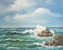 Byron Holmes 8x10 seascape oil painting, California plein air impressionist  | #516033387