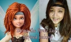 zarina the pirate fairy inspired makeup