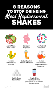 stop drinking meal replacement shakes