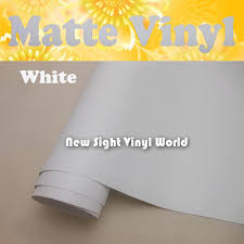 2020 High Quality Matte White Vinyl Matt White Wrap Film Air Free Bubble For Car Stickers Size 1 52 30m Roll From Newsight Vinyl World 181 09 Dhgate Com