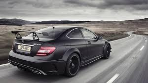 black mercedes benz coupe mercedes