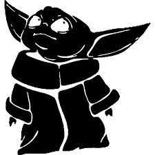 Baby Yoda Mandalorian Decal Sticker Baby Yoda Mandalorian Decal Thriftysigns