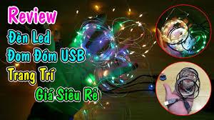 Trên Tay Dây Đèn LED Đom Đóm USB trang trí giá siêu rẻ - Erabarufm