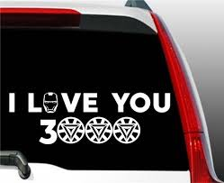 Iron Man Sticker I Love You 3000 Decal Avengers Decal Etsy
