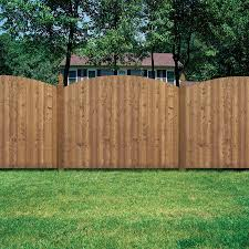Shop Barrette Spruce Dog Ear Wood Fence Picket Panel Common 6 Ft X 8 Ft Actual Wood Fence Design Picket Fence Panels Wood Fence